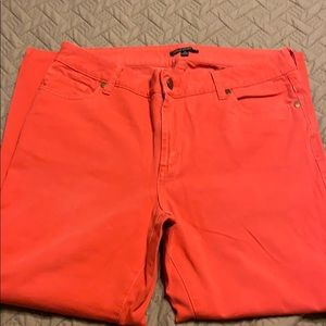 Chaus Sport Dark Coral Ankle Jeans